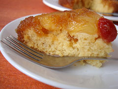 Pineapple Upside-Down Cake Slice