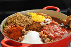 Dutch Oven Cowboy Beans - Ingredients