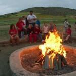 modern day campfire