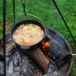 Chicken soup in camp chef cc10 dutch oven