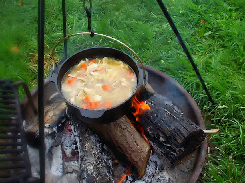 Dutch oven cooking for How to cook in a dutch oven over a campfire